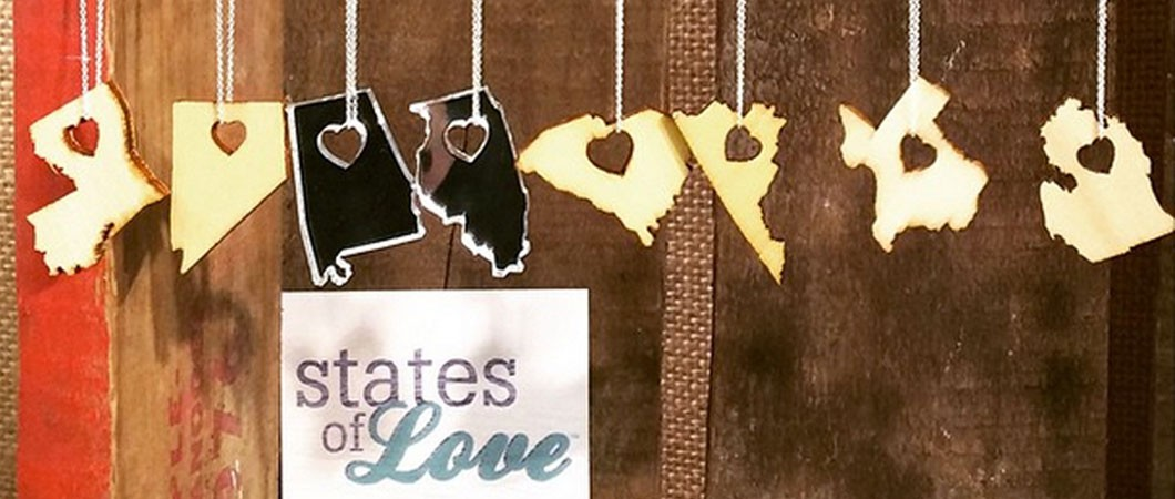 States of Love Laser Cut Necklaces